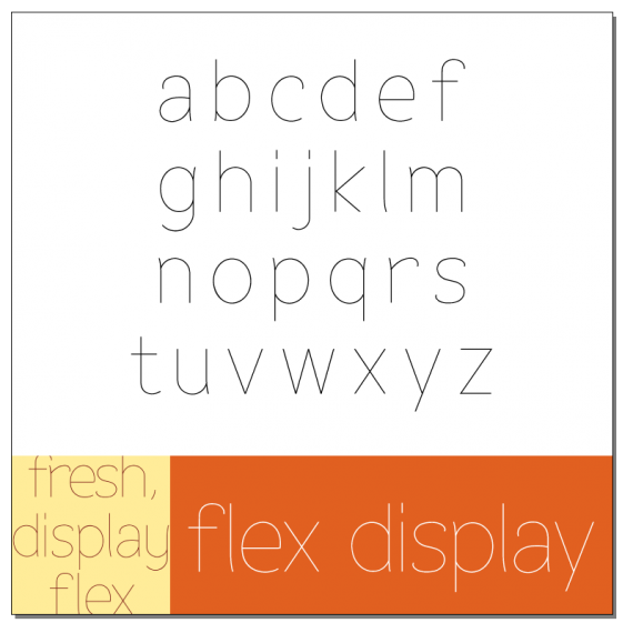 Flex Display Font