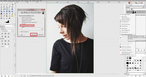 Tutorial Haare freistellen in GIMP (1)