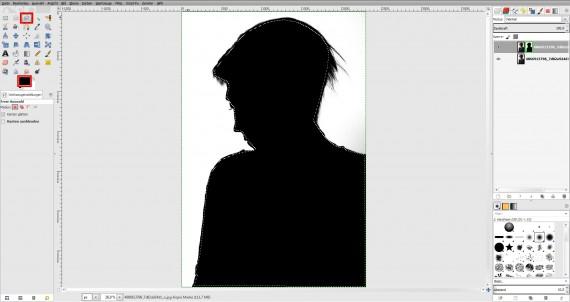 Tutorial Haare freistellen in GIMP (4)