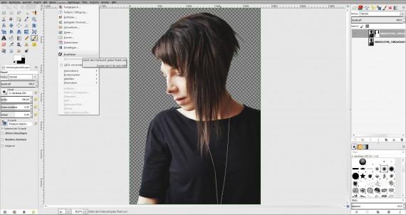 Tutorial Haare freistellen in GIMP (7)