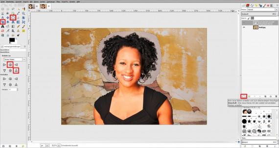 Tutorial Haare freistellen in GIMP (12)
