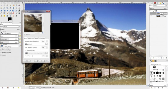 Tilt Shift GIMP (Focus-Blur-Plugin)