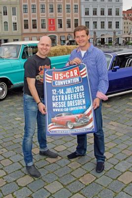 Veranstalter Mathias Lindner und Matteo Böhme