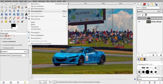 Tutorial Filter Bewegungsunschärfe in GIMP