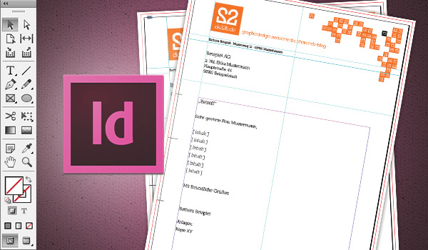 in 6 steps einen briefbogen im indesign erstellen saxoprint blog - Briefbogen Muster
