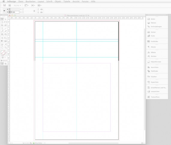 Briefbogen im Indesign CS6 erstellen Step 2