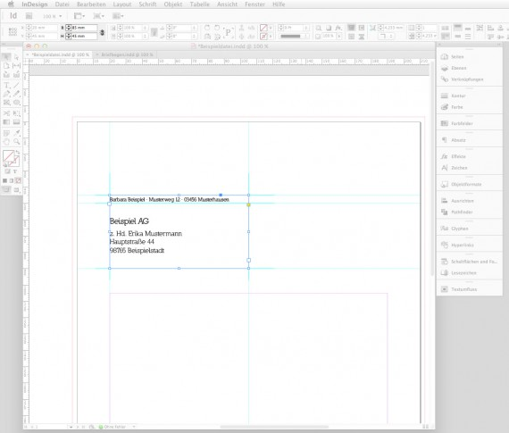 Briefbogen im Indesign CS6 erstellen Step 3