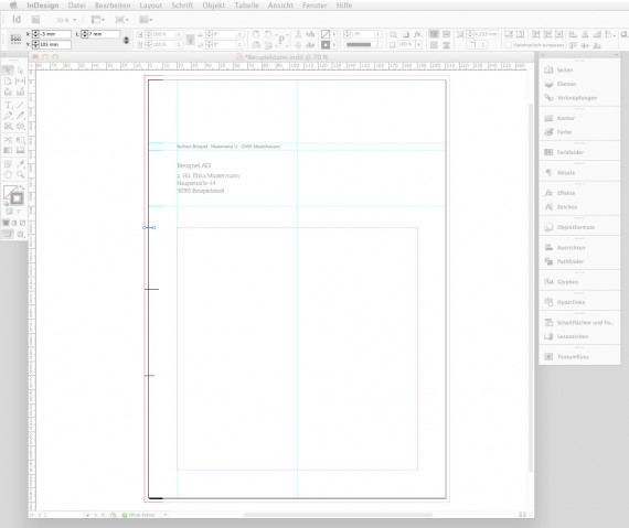 Briefbogen im Indesign CS6 erstellen Step 4