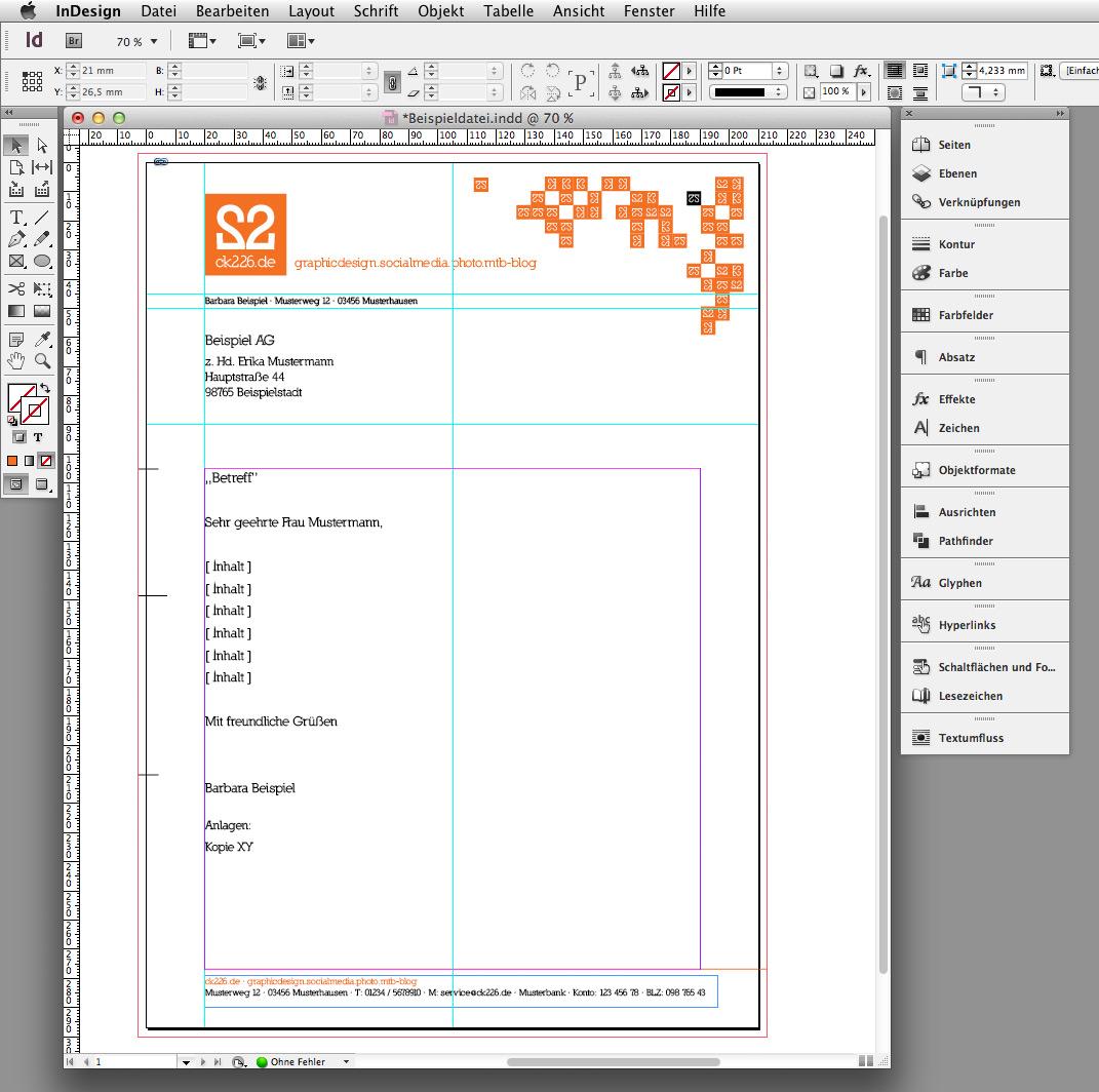 In 6 Steps Einen Briefbogen Im Indesign Erstellen Saxoprint Blog