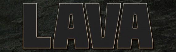 Lava Text Effect Photoshop (3i)
