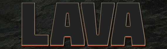 Lava Text Effect Photoshop (3l)