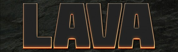 Lava Text Effect Photoshop (4d)