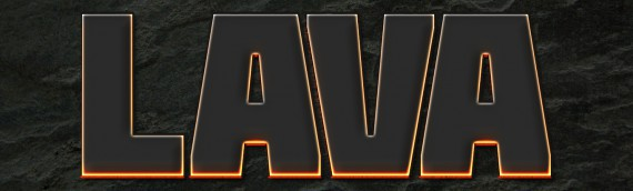 Lava Text Effect Photoshop (4g)