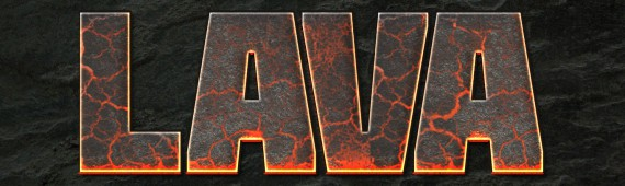 Lava Text Effect Photoshop (4i)