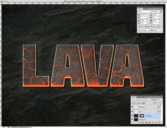 Lava Text Effect Photoshop (6)