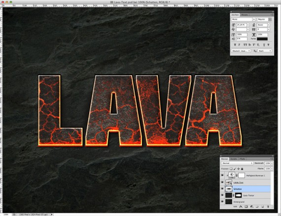 Lava Text Effect Photoshop (8)