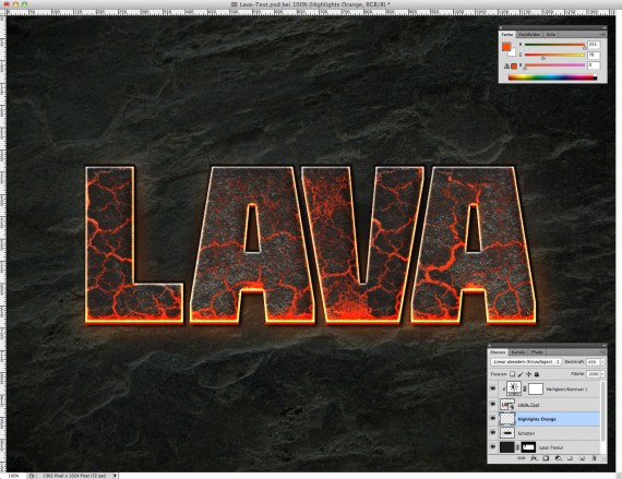 Lava Text Effect Photoshop (9)