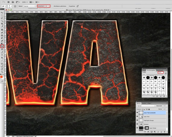 Lava Text Effect Photoshop (10)