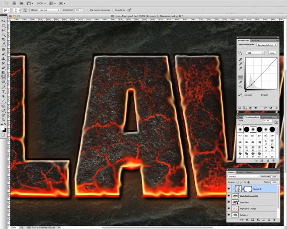 Lava Text Effect Photoshop (11)