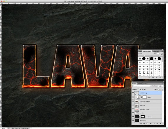 Lava Text Effect Photoshop (12)