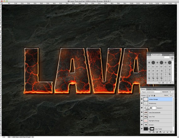Lava Text Effect Photoshop (13)