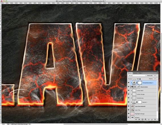 Lava Text Effect Photoshop (15c)