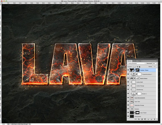 Lava Text Effect Photoshop (17)