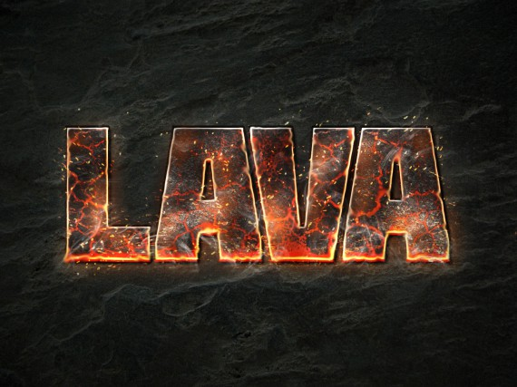 Lava Text Effect Photoshop (Fertig)