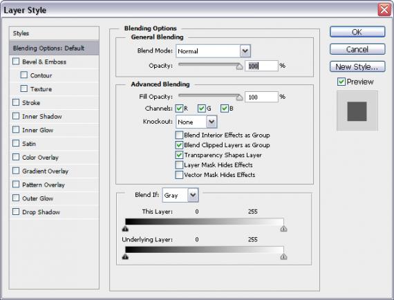 Photoshop CS6 Englisch Deutsch Übersetzung (Layer Styles - Ebenenstile)