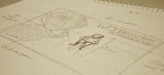Broschüren Cover im InDesign gestalten - Step 1: Scribbels