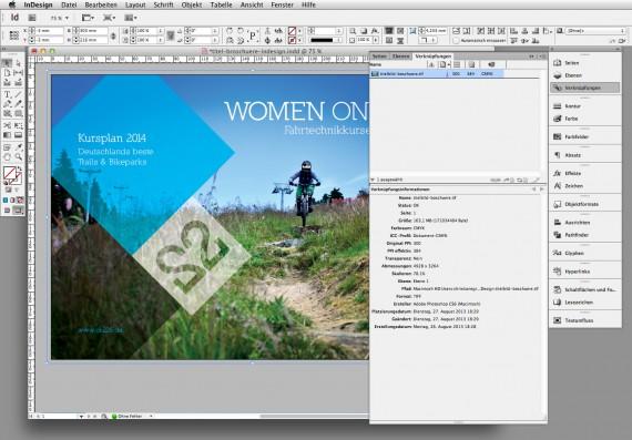 Broschüren Cover im InDesign gestalten - Step 5: Endkontolle