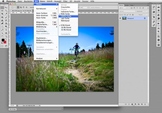 Broschüren Cover im InDesign gestalten - Step 3: Bildbearbeitung