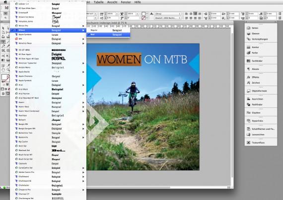 Broschüren Cover im InDesign gestalten - Step 4: Positionierung