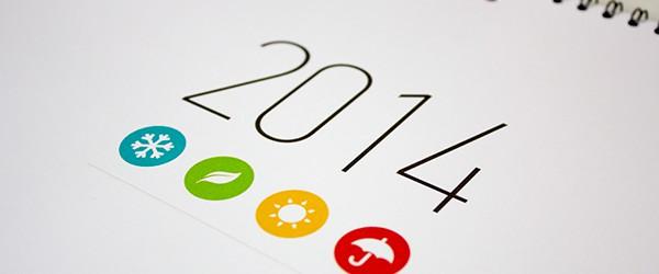 50 umwerfende Designs für die Kalender 2014