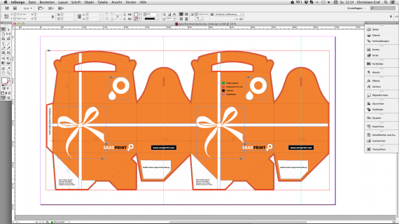 Geschenkverpackung - Logo und Typo positionieren