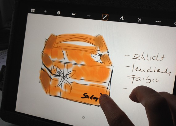 Geschenkverpackung - Ideen sammeln / Scribbeln