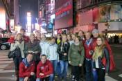 Die Laufgruppe nach der Landung in New York