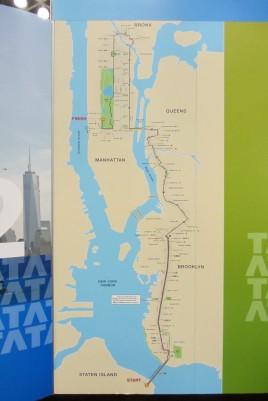Die Strecke des New York Marathon