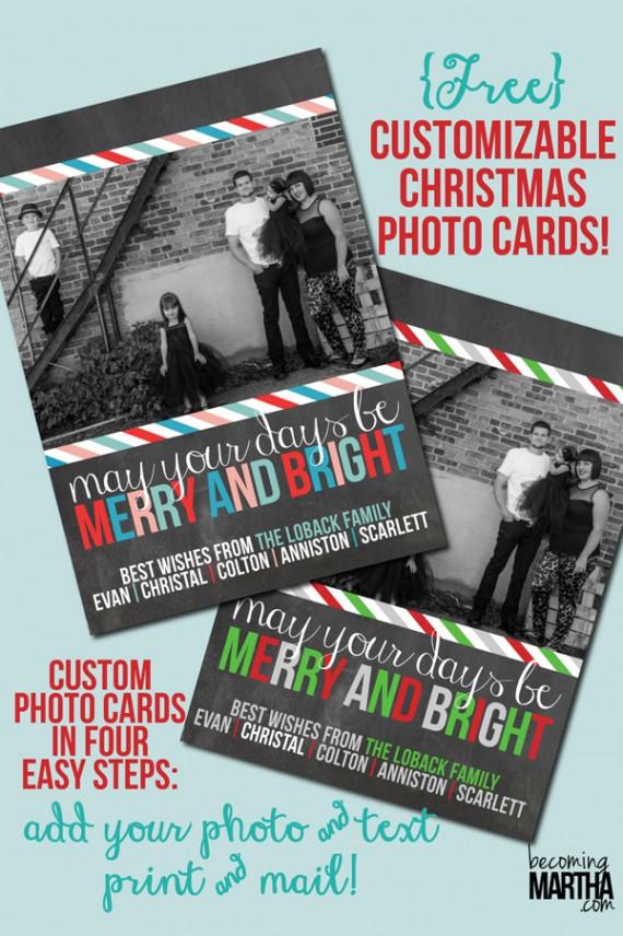 Weihnachtskarten Design Template Vorlagen (4)