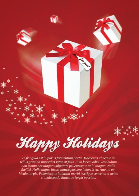 Weihnachtskarten Design Template Vorlagen (34)