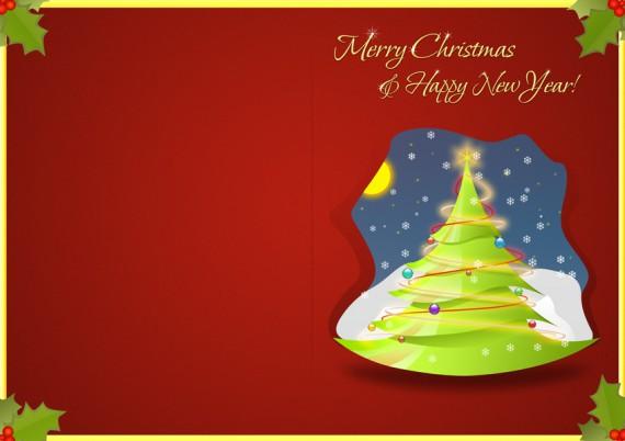 Psd templates vektor vorlagen f r weihnachtskarten - Weihnachtskarten drucken gratis ...
