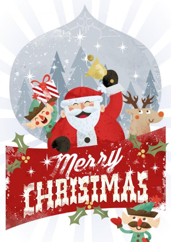Weihnachtskarten Design Template Vorlagen (42)