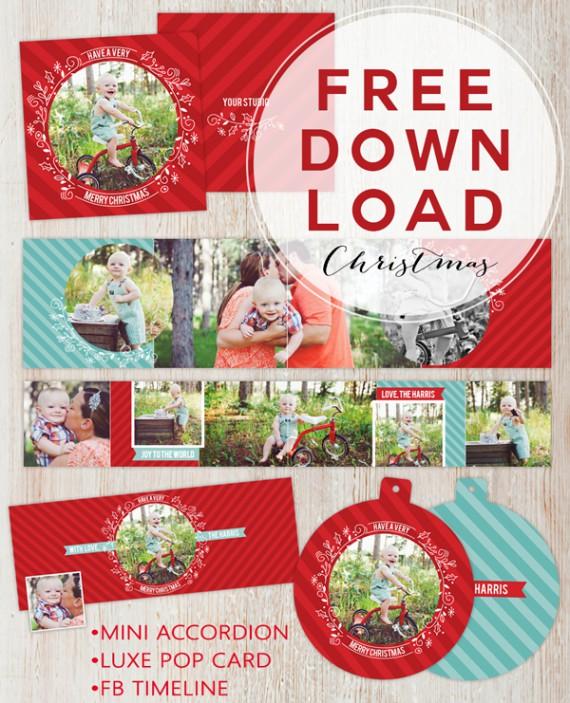 Weihnachtskarten Design Template Vorlagen (44)