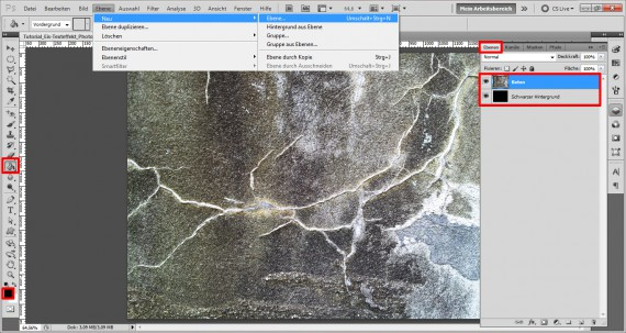 Tutorial Eis-Texteffekt Photoshop (1)