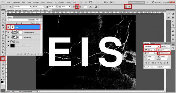 Tutorial Eis-Texteffekt Photoshop (4)