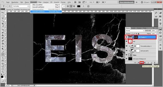 Tutorial Eis-Texteffekt Photoshop (5)