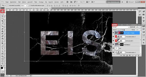 Tutorial Eis-Texteffekt Photoshop (7)