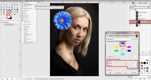 Tutorial Farbe ändern GIMP (6)