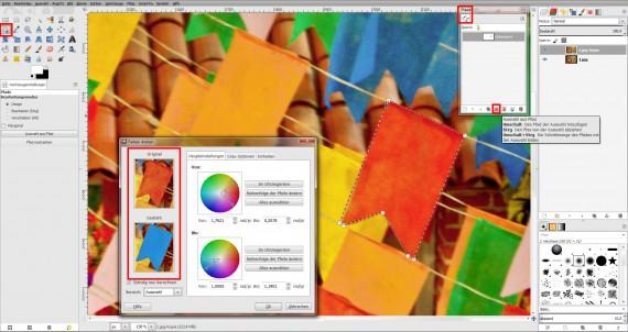 Tutorial Farbe ändern GIMP (8)