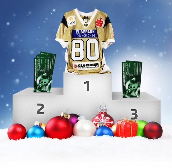 Weihnachtsverlosung American-Football-Preise der Dresden Monarchs